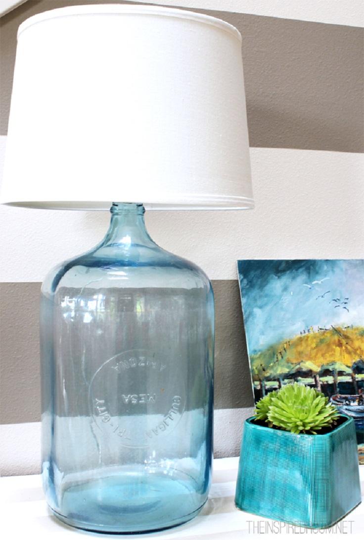 25 diy bottle lamps decor ideas that