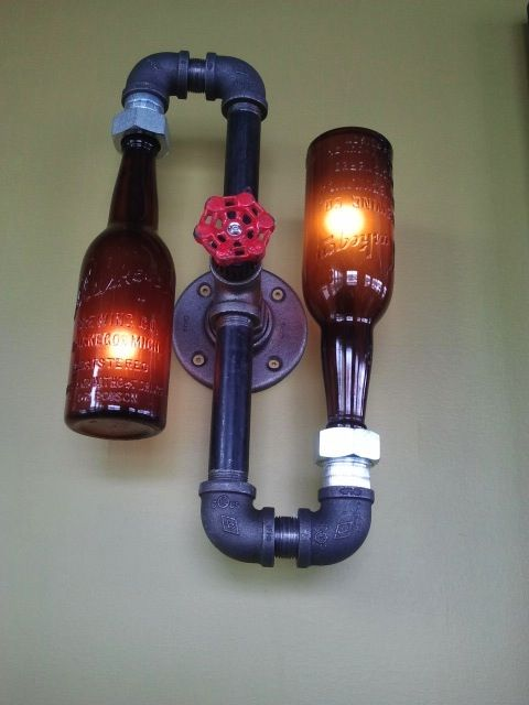 25 DIY Bottle Lamps Decor Ideas That Will Add Uniqueness