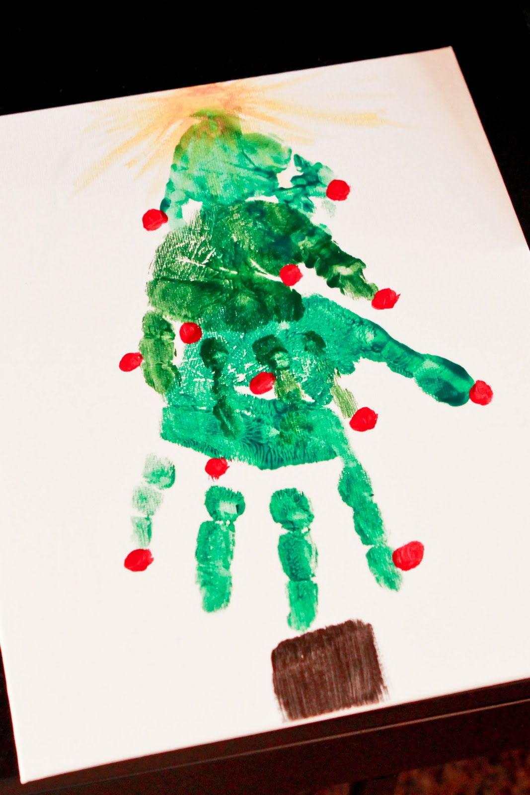 Handprint Christmas Crafts