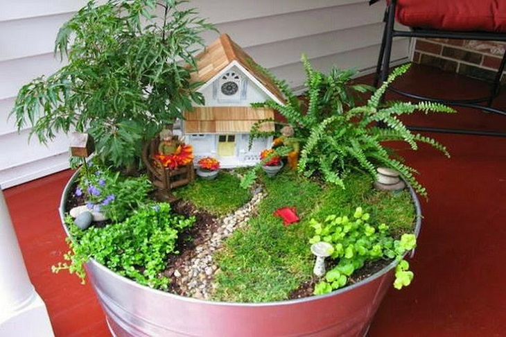 30 DIY Ideas How To Make Fairy Garden Architecture & Design