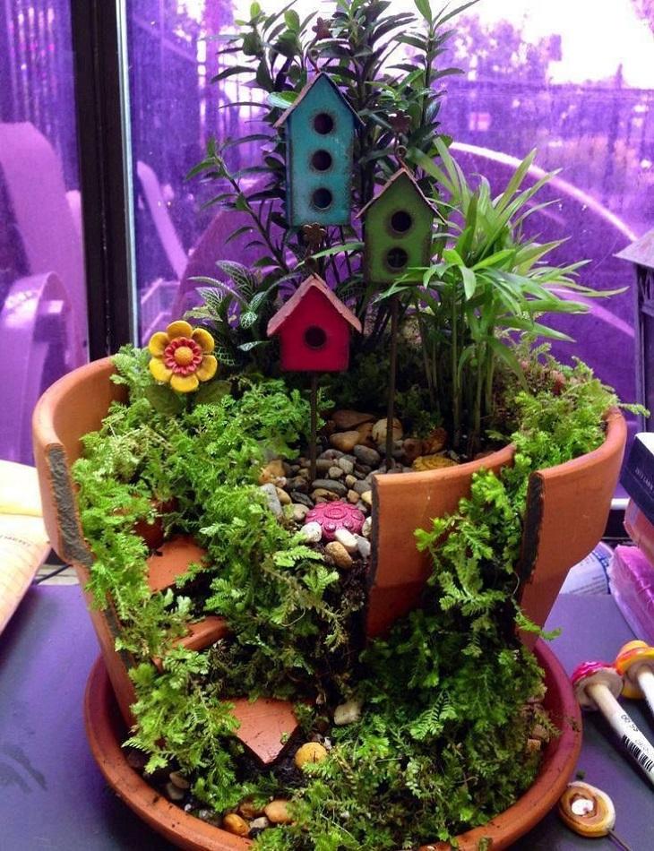 30 DIY Ideas How To Make Fairy Garden Architecture & Design