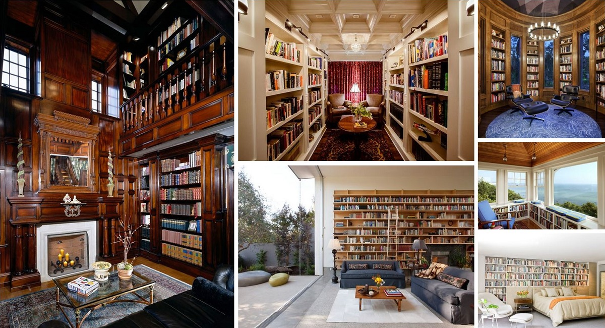 60 Home Library Design Ideas With Stunning Visual Effect