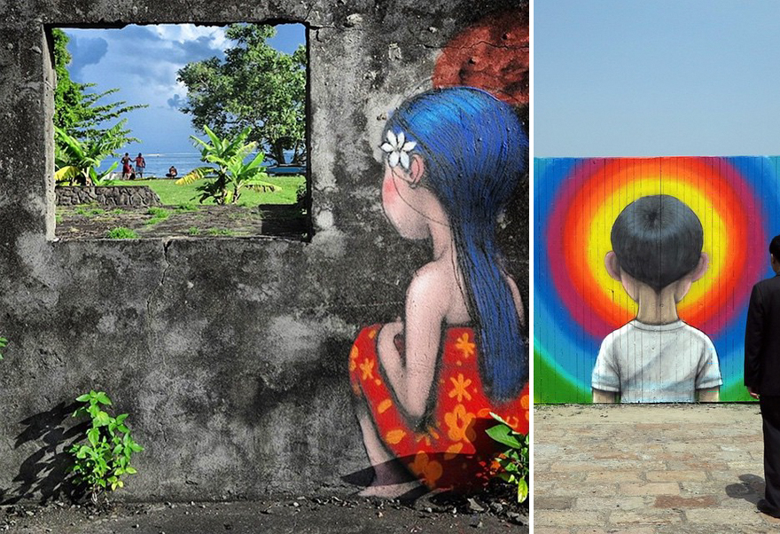French Street Artist Transforms Boring Buildings Around