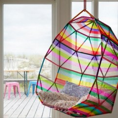 Egg Shaped Swing Chair Theater Style Chairs For Home Top Lively Rainbow Decor Ideas That Will Cheer You Up