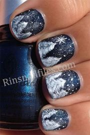 winter inspired nail design