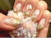 winter inspired nail design