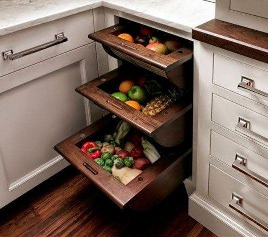 two tier kitchen drawer organizer bench with storage 25 insanely clever solutions for fruits and vegetables