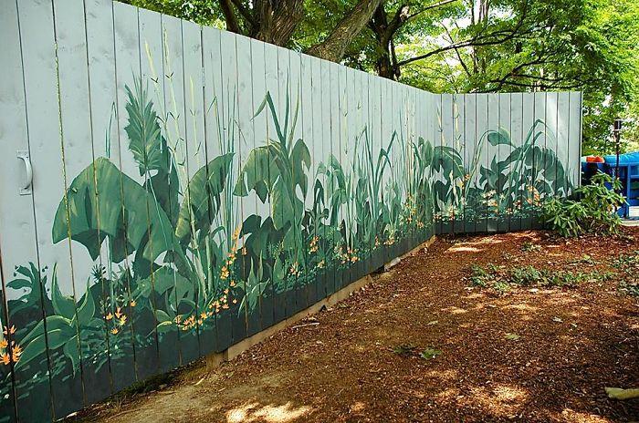 Garden Fence Paint Ideas