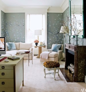 rooms office decor den wallpapered living traditional paint library piasecki eric paper wallpapers chinoiserie gournay decorating ad inspiring apartment wife