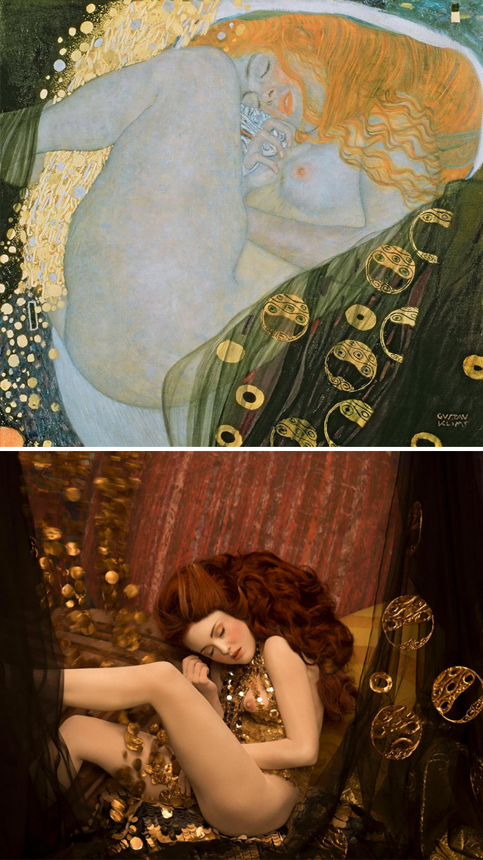 Gustav Klimts Paintings Get Recreated With RealLife