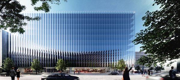 Rex Unveils Fluted Glass Office Building In Washington