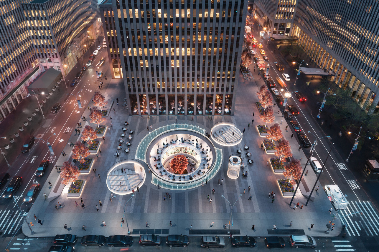 A Rockefeller Center Plaza Is Dramatically Transformed In