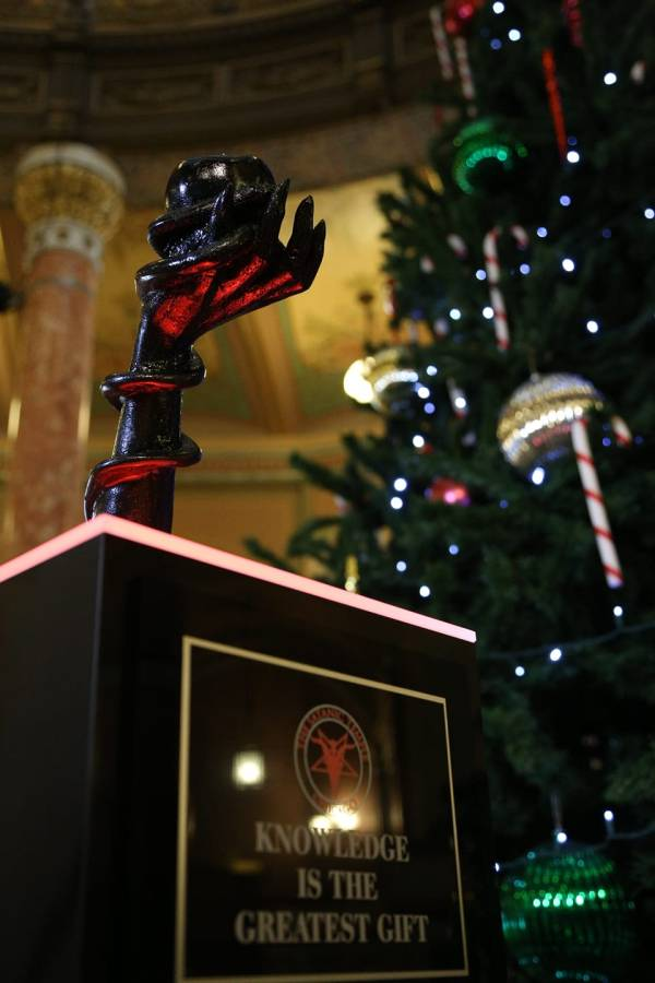 Satanic Temple Erects Holiday Display In Illinois Statehouse