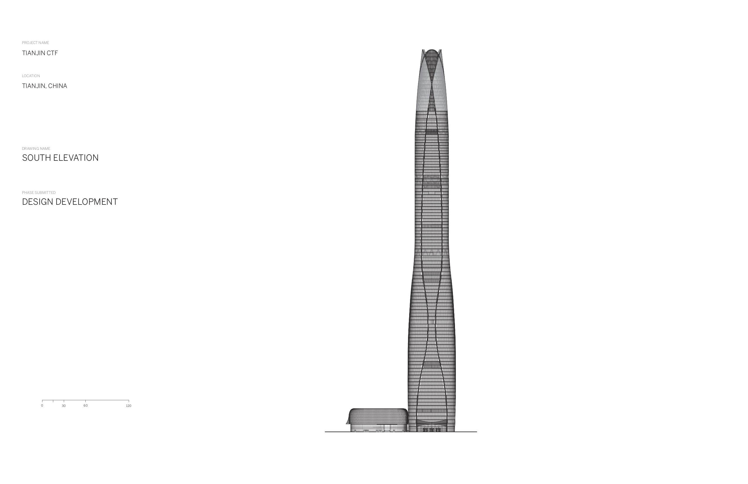 SOM's Tianjin CTF Finance Centre meets the breeze with a