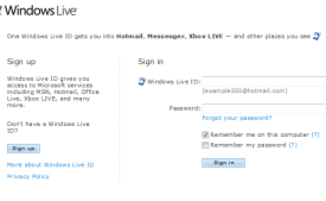 Windows Live Id Sign In Assistant 6 5 Beta For Windows 7