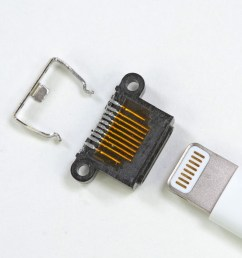 enlarge the iphone 5 s lightning connector disassembled note two  [ 1600 x 1200 Pixel ]