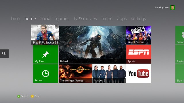 New Xbox Interface Brings Windows 8 Metro Style To The