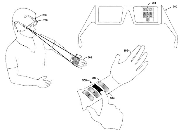diagram of google glass