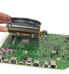 ifixit disassembles the xbox one and finds nand high repairability xbox one motherboard diagram [ 3776 x 2832 Pixel ]