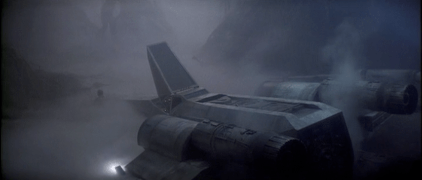 The non-anamorphic DVD version of <em>The Empire Strikes Back</em>.