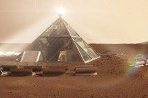 Pyramid And Human Beehives Designed Mars Dwellers
