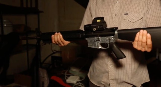 """Wilson and Defense Distributed <a href=""""https://arstechnica.com/tech-policy/2014/10/making-a-homemade-metal-semi-automatic-rifle-just-got-crazy-easy/"""">introduced the world to the Ghost Gunner CNC mill</a> (which could simplify the process of manufacturing an AR-15 starting from an 80 percent lower) in 2014, months before Paloma Heindorff would first learn of the company and its founder."""