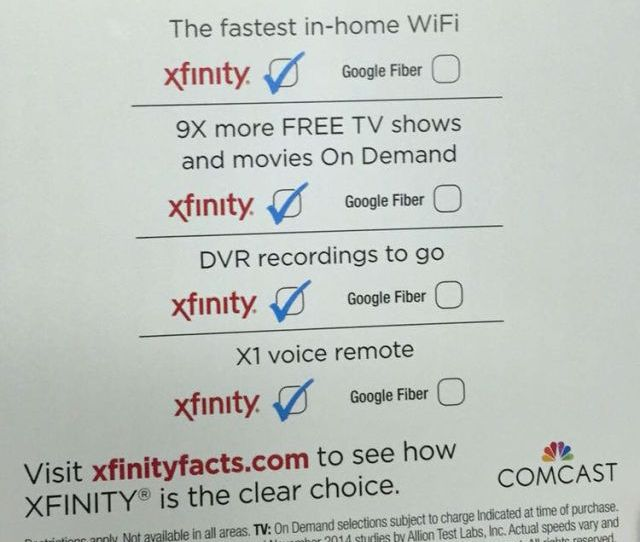 Comcast Is Mailing This Flyer To Atlanta Residents