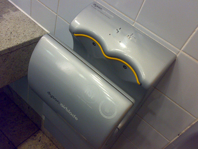using a dyson hand dryer is like setting off a viral bomb in a