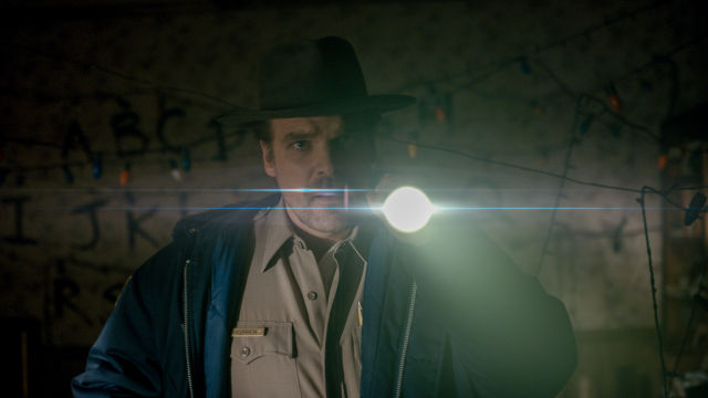 OK, we'll follow you into the meatspace paper world, Chief Hopper.