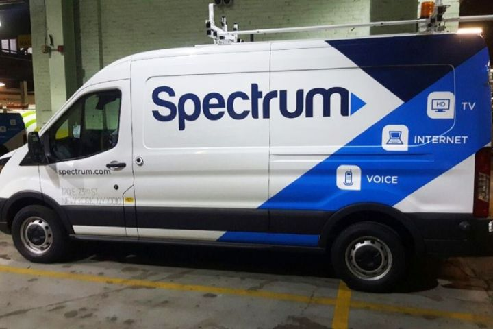 A Charter Spectrum service vehicle.