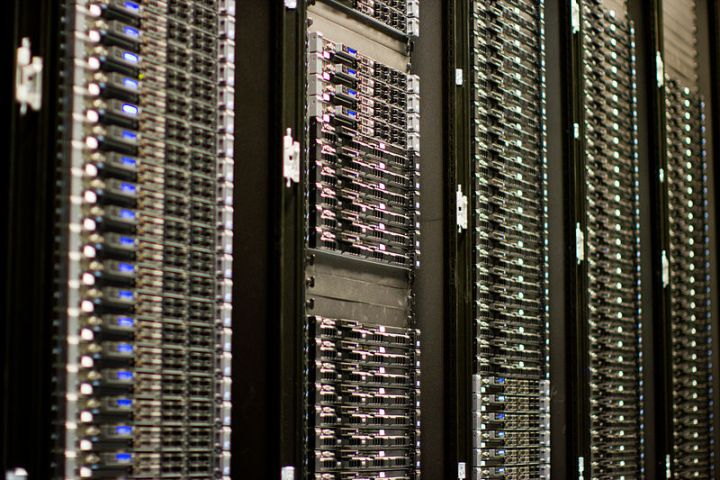 Photograph of computer server.