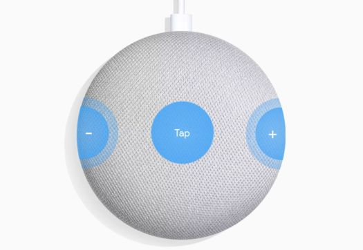 Google Home Mini touch points.