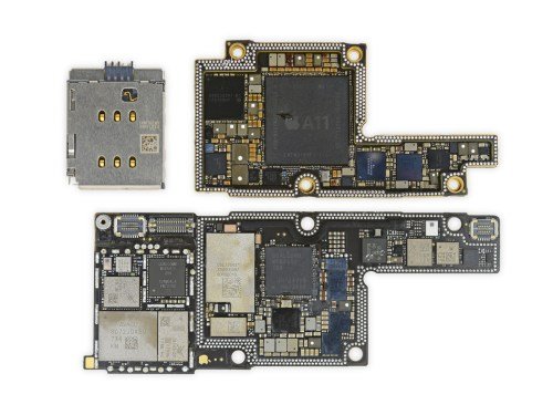 small resolution of ifixit s iphone x teardown finds two battery cells and an enlarge ipad 2 logic board diagram