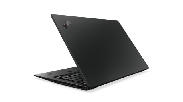 ThinkPad X1 Carbon 6th generation. Notice the blacked-out logo on the lid.