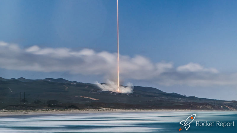 A Falcon 9 rocket launches from Vandenberg Air Force Base.