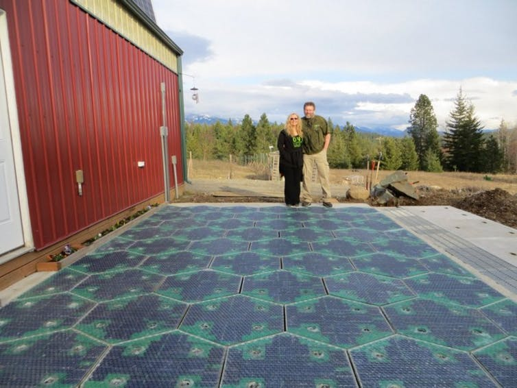 The driveway prototype which inspired Solar Roadways.