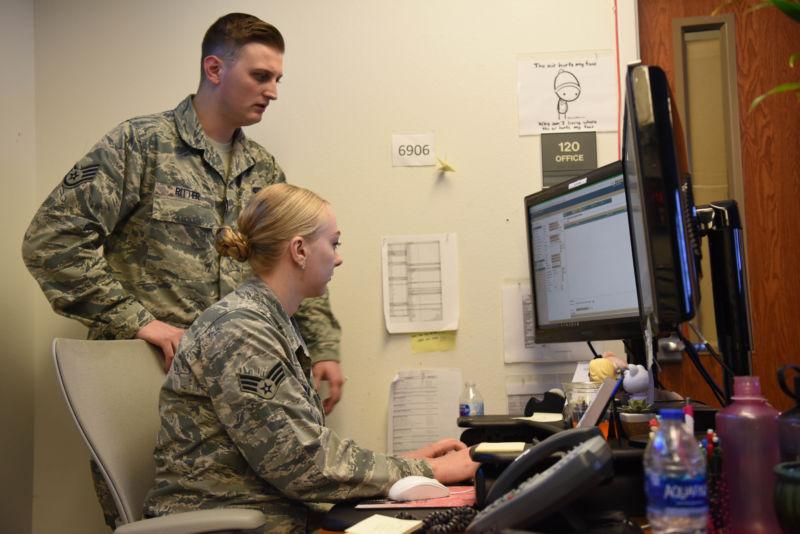 Cyber airmen cybering in the cyberspace.