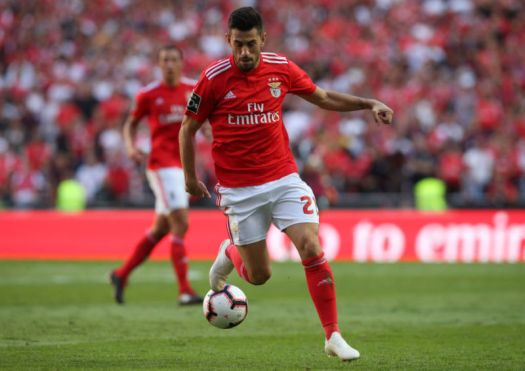 Pizzi of SL Benfica in action during the Liga NOS match between SL Benfica and FC Porto at Estadio da Luz on October 7, 2018 in Lisbon, Portugal.