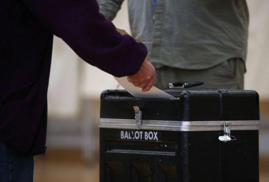 Voter voting