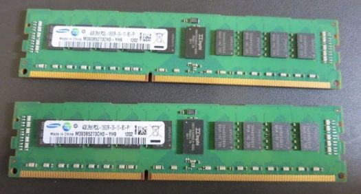 A DDR3 DIMM with error-correcting code from Samsung. ECC is no longer an absolute defense against Rowhammer attacks.