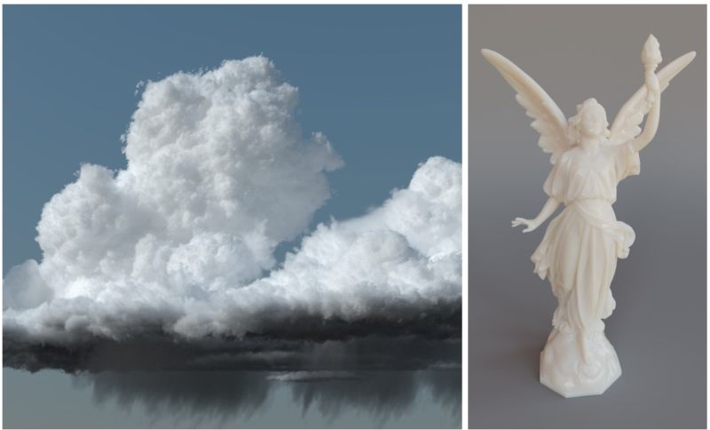 Clouds contain billions of individual water droplets that are difficult to plot in computer graphics for movie scenes.