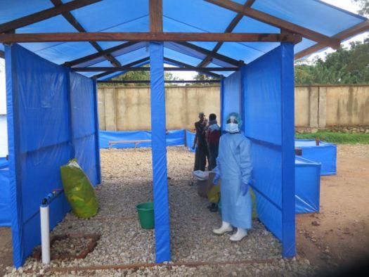 Ebola treatment center at the Hospital in Beni, North Kivu Province.
