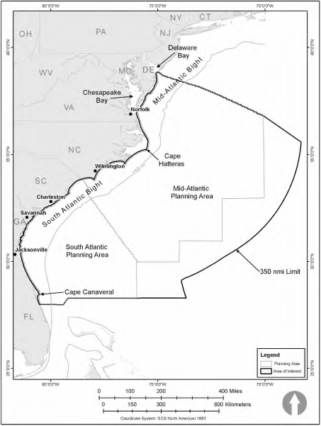 The area approved for seismic testing.