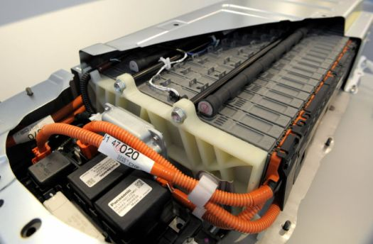 A Toyota Prius battery