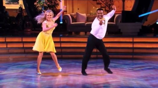 """Actor Alfonso Ribeiro shows off """"The Carlton"""" during a <em>Dancing with the Stars</em> performance."""