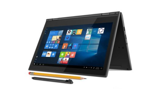 Promotional image of a tablet with both a stylus and a standard No.2 pencil.