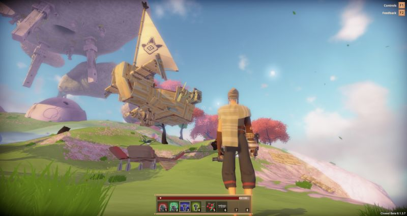 Bossa Studios' MMO <em>Worlds Adrift</em> is one of the games affected by Unity's sudden blocking of SpatialOD development tools.