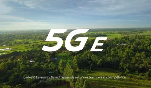 Screenshot from an AT&T commercial showing text that reads,