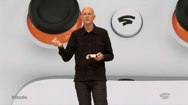 Google's Phil Harrison talks about the new Google Stadia controller.