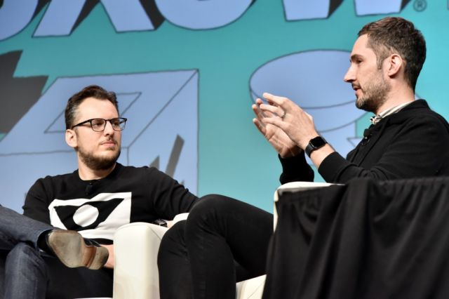 Instagram Founders Kevin Systrom and Mike Krieger during the 2019 SXSW in Austin, Texas.